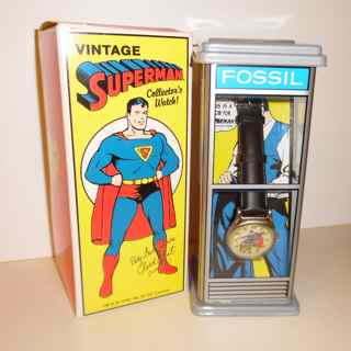 Vintage superman phone booth watch by fossil freerunsca Choice Image