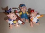 Disney's Three Little Pigs imported figurals