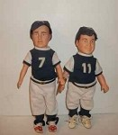 Abbot and Costello baseball dolls