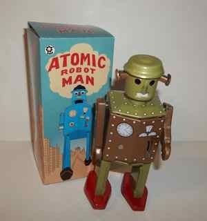 Atomic Robot Man Tin Toy