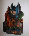 Batman Forever Vintage Comic Book Display Stand DC Comics rare Riddler Two Face