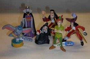 Set of PVC Disney Bullys from Germany including Peter Pan and Dumbo