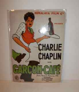 Charlie Chaplin Movie Poster tin sign