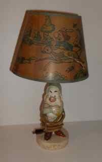 Vintage Disney Grumpy Lamp from Snow White