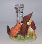 Lady and the Tramp bisque sculpture