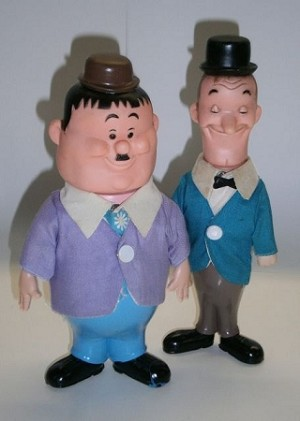Dakin Laurel and Hardy dolls