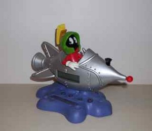 Marvin Martian in SpaceShip Digital Alarm Clock