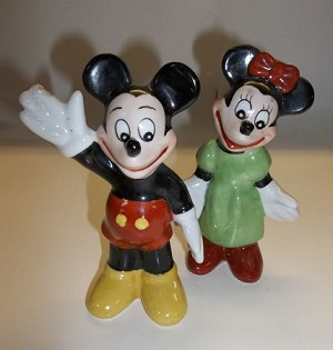 Vintage classic Disney Mickey and Minnie statues