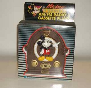 Mickey Mouse AM/FM Radio and Casette recorder