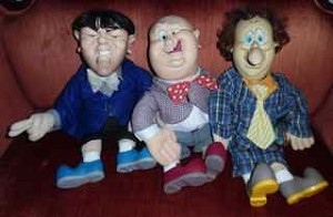 Three Stooges dolls by Spumco