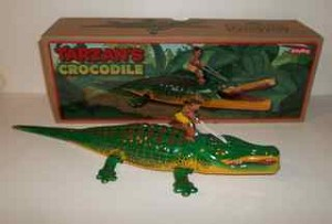 Tarzan' Crocodile tin toy