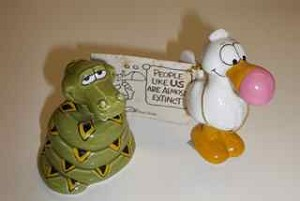 Animal Crackers - Dodo and Snake Comic Strip Figurals