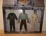 Universal Monsters boxed set of Frankenstein, Wolfman and The Mummy