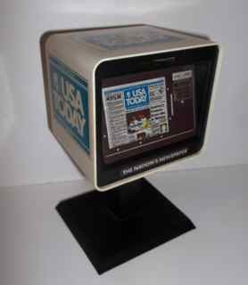 USA Today newspaper dispenser bank
