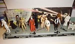 Vintage Star Wars Action Figure Display Stand with all Figures 1977
