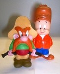 Elmer Fudd and Yosemite Sam Rubber figures